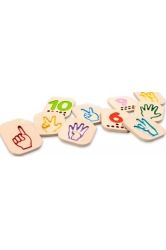 Hand sign numbers 1-10 plantoys ref.5655